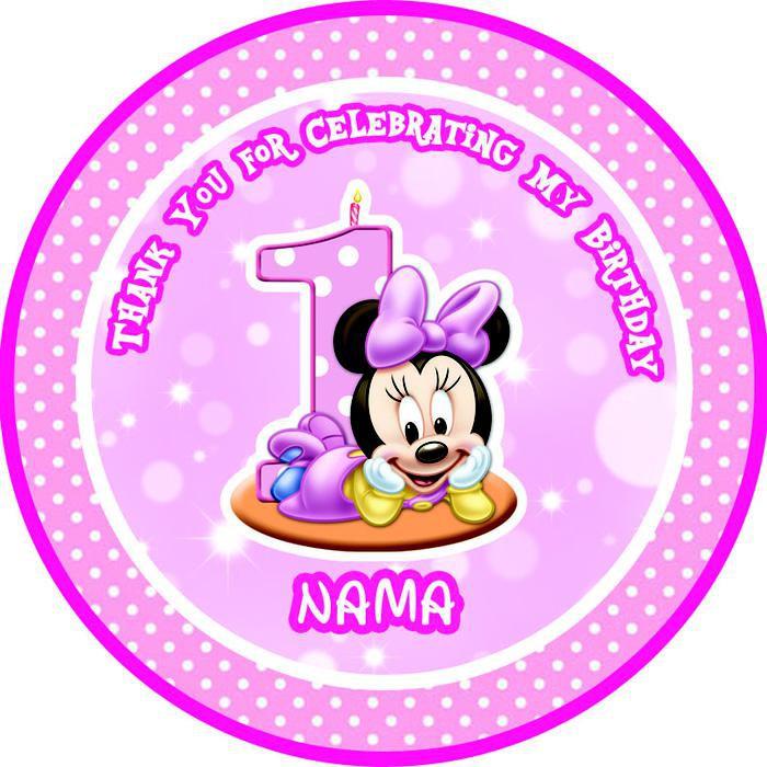 Kartu Ucapan Terimakasih Ulang Tahun Thank You Card Minnie Mouse