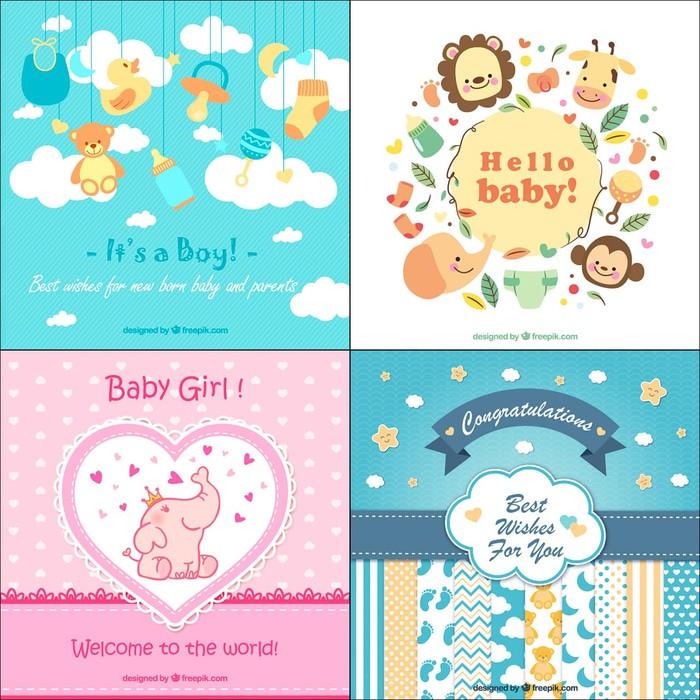 Kartu Ucapan Kelahiran Bayi Gift Card Greeting Card Baby Born