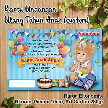 Kartu Undangan Ulang Tahun Anak Custom Harga Ekonomis Shopee