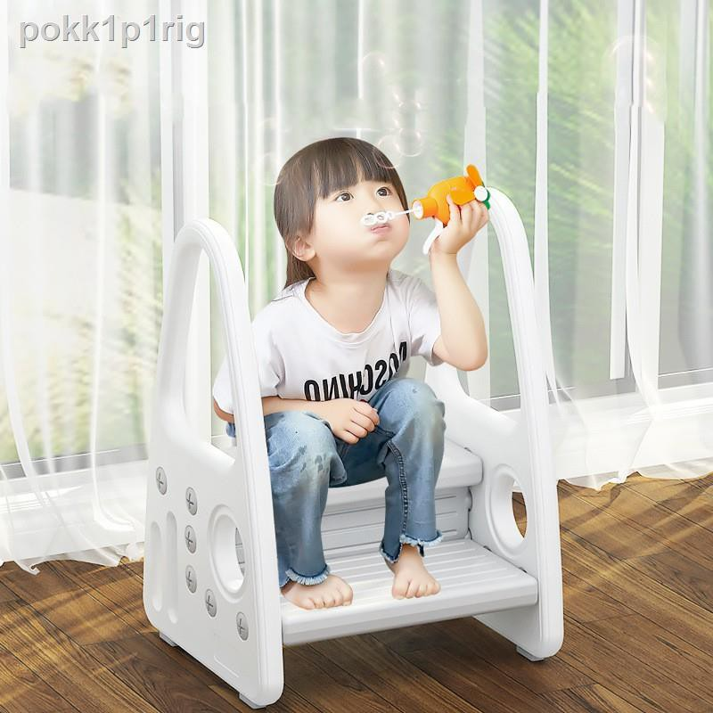 toddler step stool kids two learning tower for bathroom sink toilet potty training kitchen counter children up hel ลดเหล อ 1 107