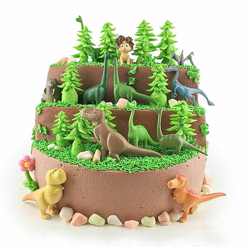 12pcs The Good Dinosaur Cake Topper Figure Toys Arlo Spot Budda Ramsey Kids Toy Shopee Thailand