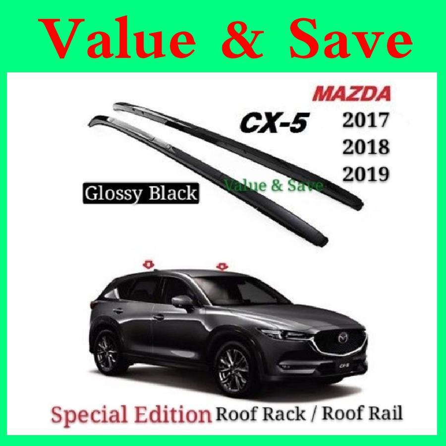 mazda cx5 cx 5 2018 2021 high quality aluminium alloy glossy black roof bar side rail bar roof rack