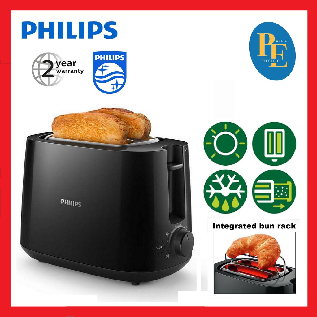 philips large variable slots bread toaster with warming rack hd2581