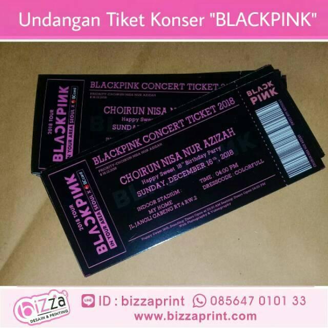 blackpink concert ticket 17th birthday invitation