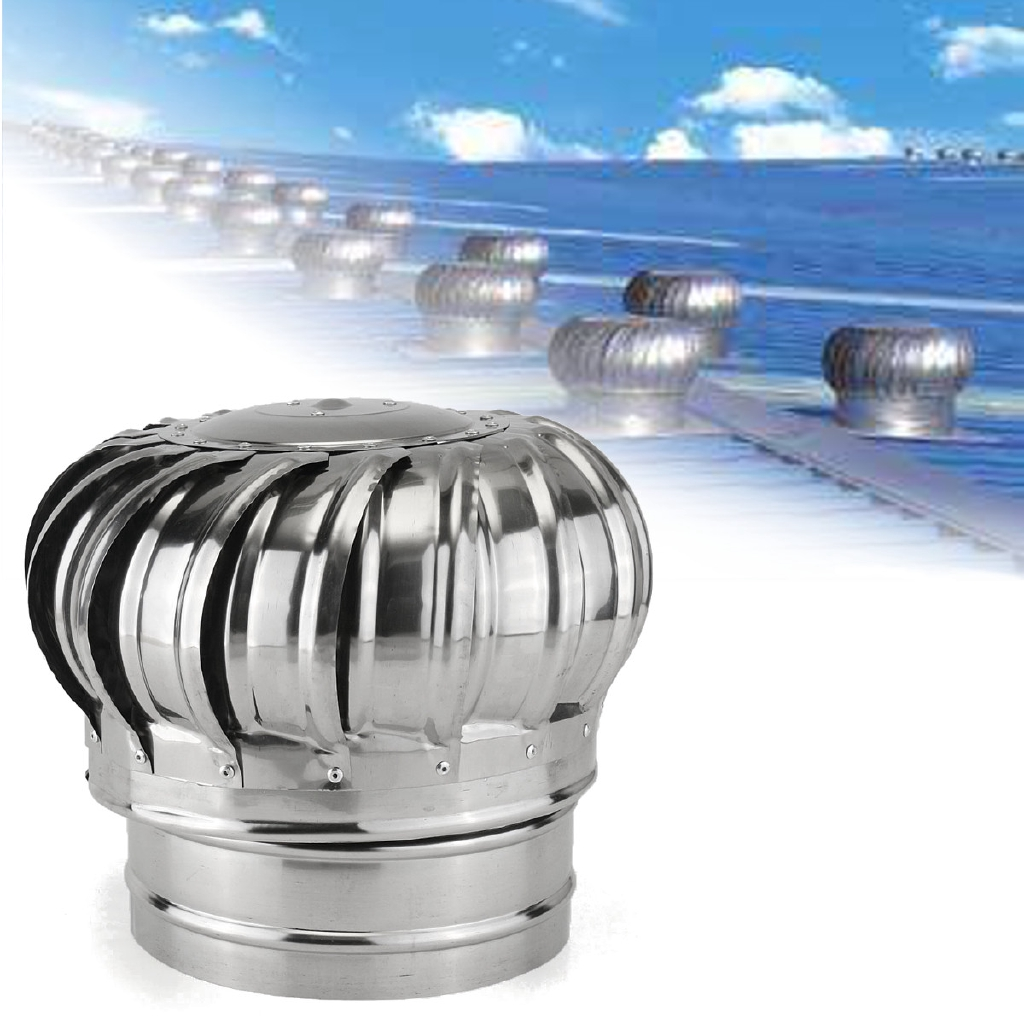 6 7 8 stainless steel roof ventilator wind turbine air vent exhaust fan rotary