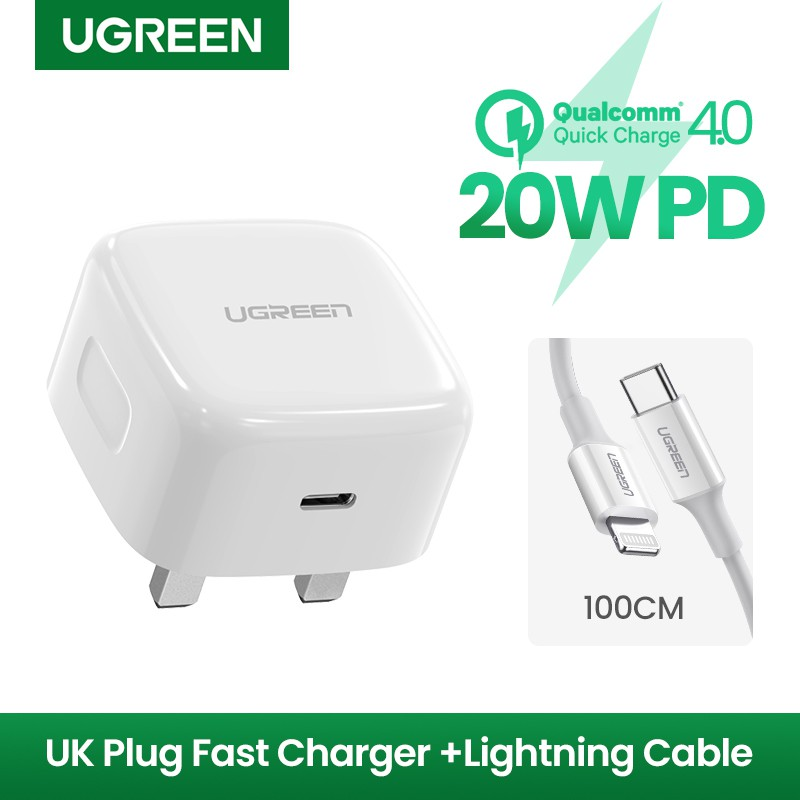 free usb c to lighting cable ugreen 20w pd fast usb charger quick charge 4 0 3 0 charger for iphone 12 11 x xs xr 8 for ios system
