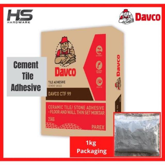 davco cement 1kg based tile adhesive ceramic tile stone adhesive floor wall thin set mortar ctf 99