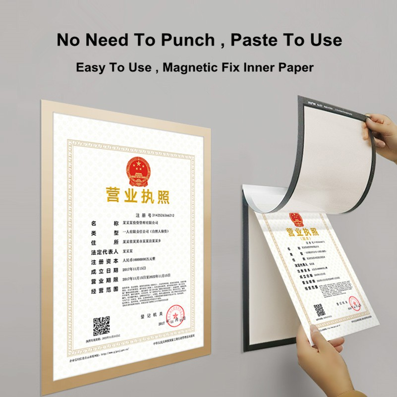 a4 wall mounted magnetic pvc sign holder poster board frame picture frame document display fridge frame
