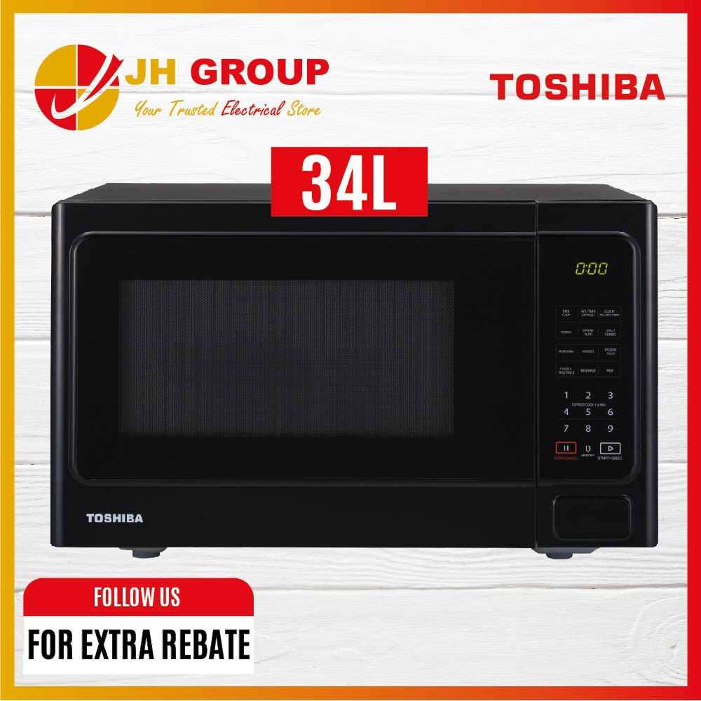 toshiba microwave oven w grill touch control 34 l er sgs34 k my