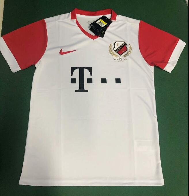 20 21 fc utrecht soccer jerseys home 50 years anniversary 2020 2021 utrecht hoogma janssen dario dumic footbll shirts camiseta maillot
