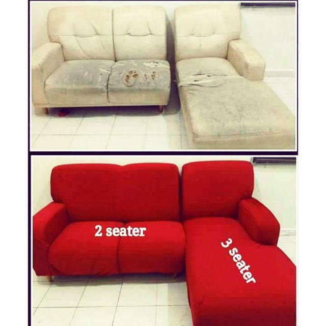 l shape sofa cover ready stock
