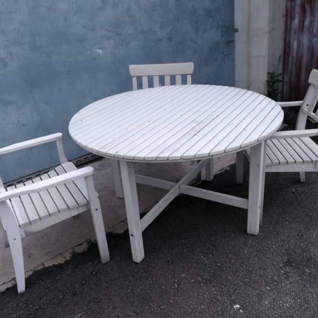 second hand ikea outdoor patio set with 3 chairs