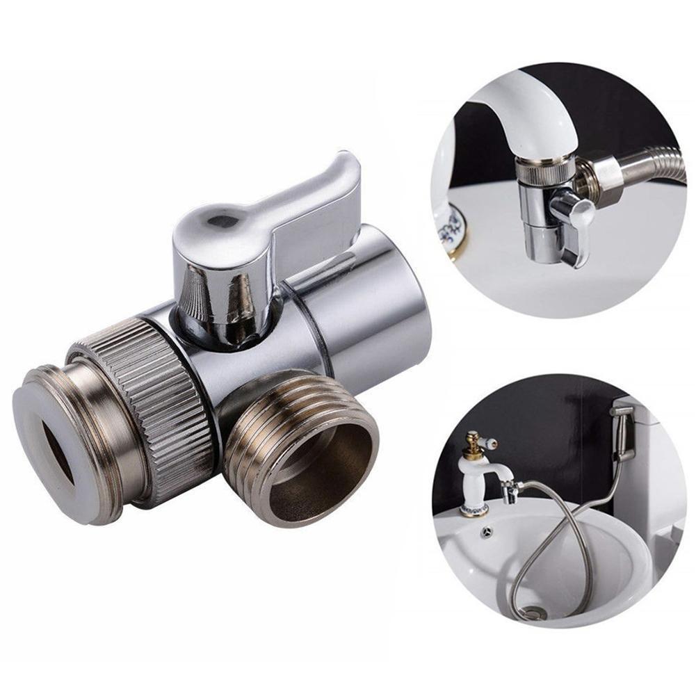 water tap home adapter faucet splitter bathroom kitchen sink valve diverter copper