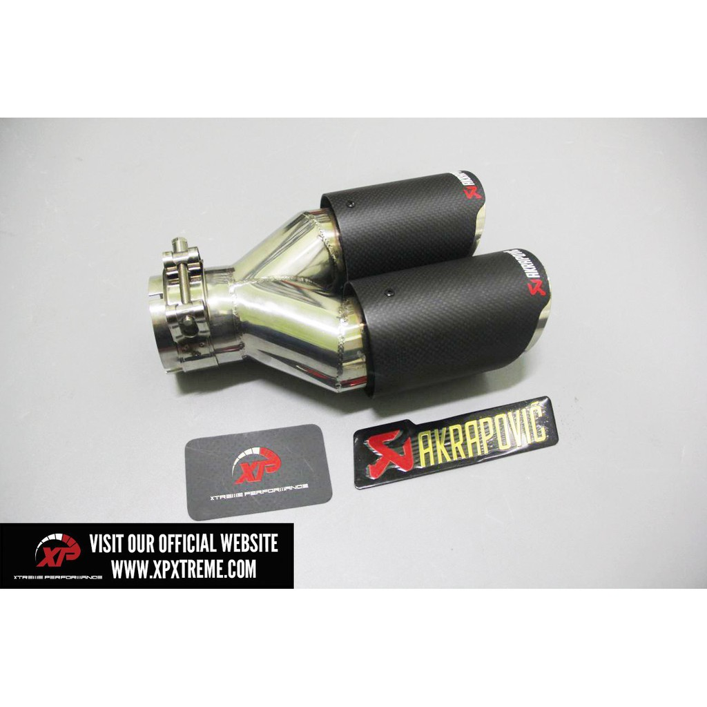 akrapovic exhaust tip carbon 3 inch twin tip outlet