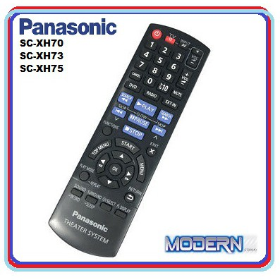 Panasonic Home Theater Remote Control For Sc Xh70 Sc Xh73 Sc Xh75