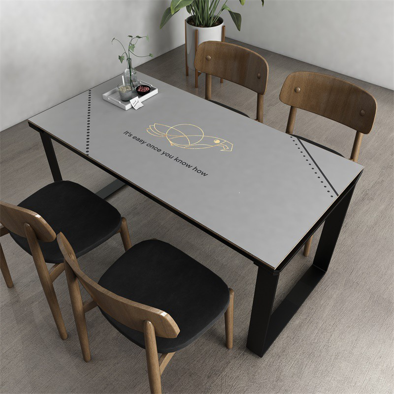 light luxury nordic leather table mat waterproof and oil free disposable dust proof pvc coffee table mat table cloth t