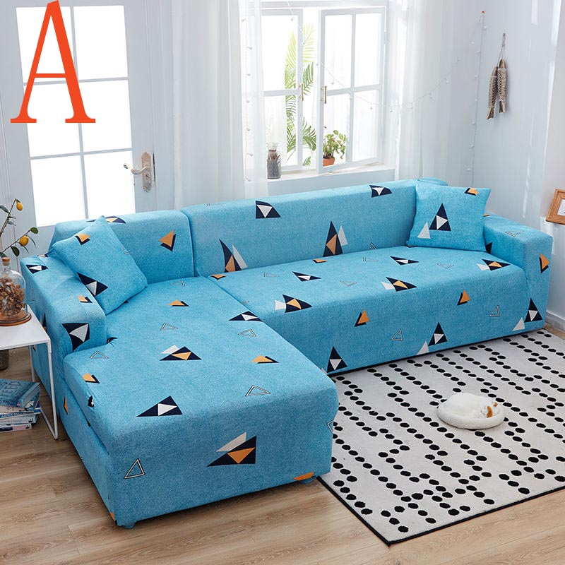 sky blue sofa cover cartoon style soft modern sofa pad resistant sofa slipcover seat couch cover for drawing