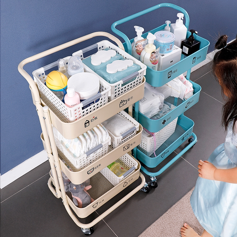 baby products shelf small push cart storage rack mobile stroller baby finishing toy