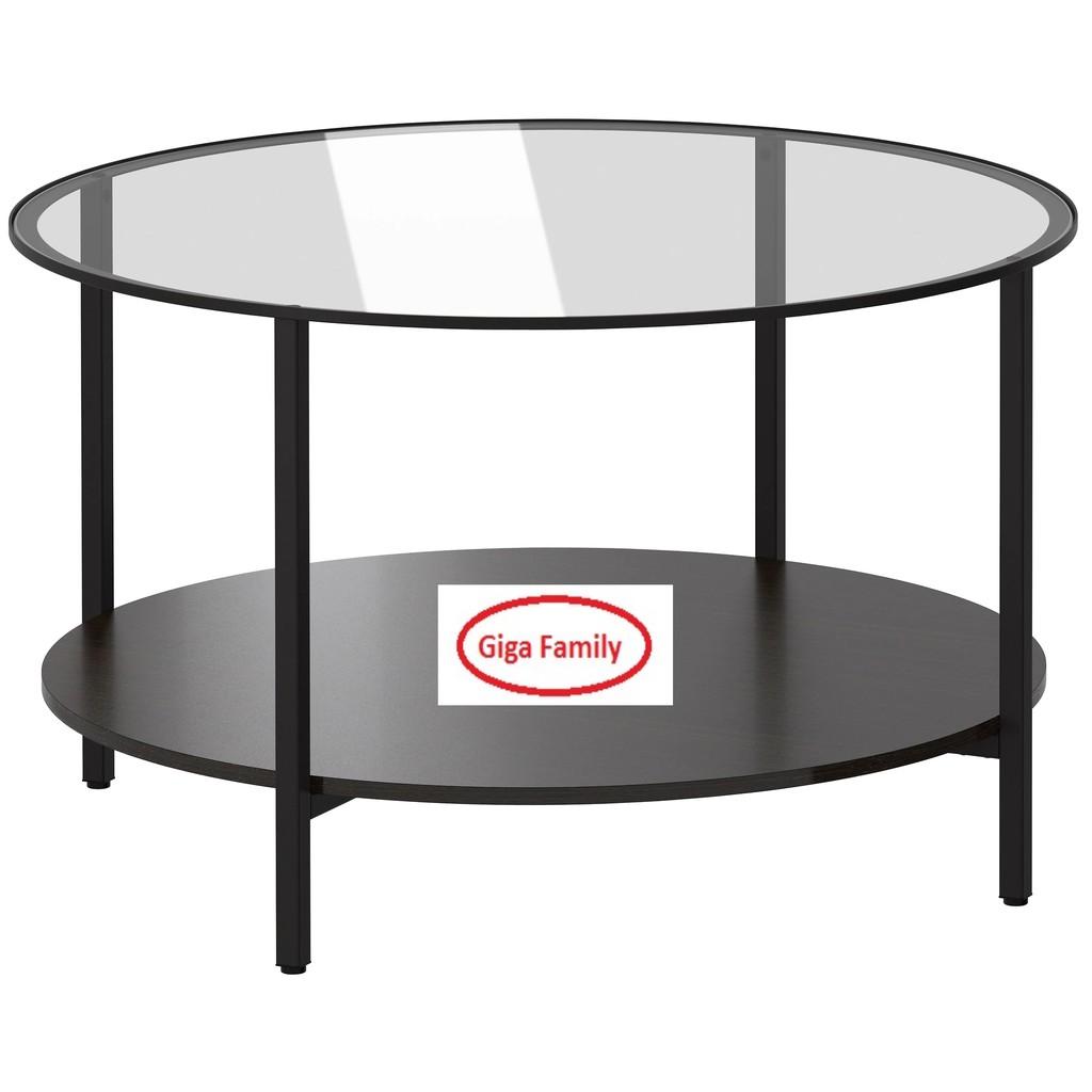 ikea vittsjo vittsjo coffee table glass dark brown white