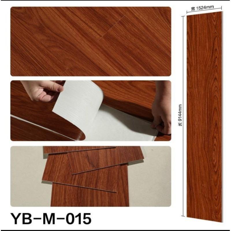 ready stock self adhesive vinyl floor tiles diy pvc sticker no glue needed