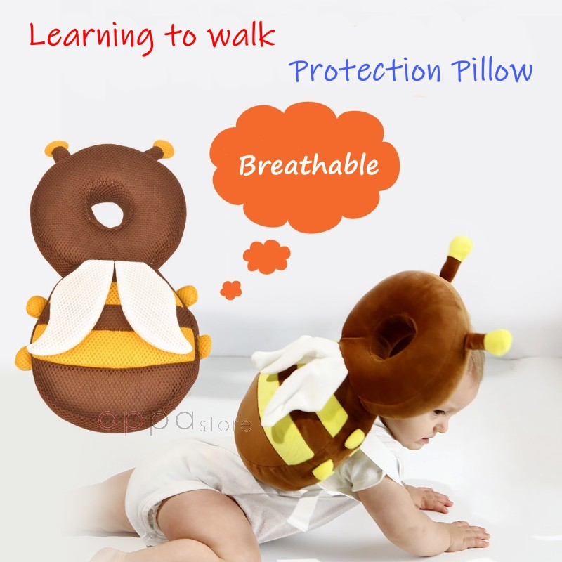 os baby safety cute toddler baby head protection bee wing pillow pad