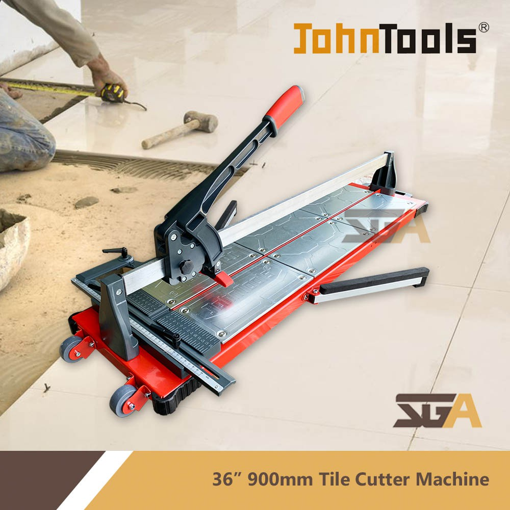 johntools heavy duty 36inch 900mm manual tile cutter professional scoring wheel with single rail potong mosaic ss 900