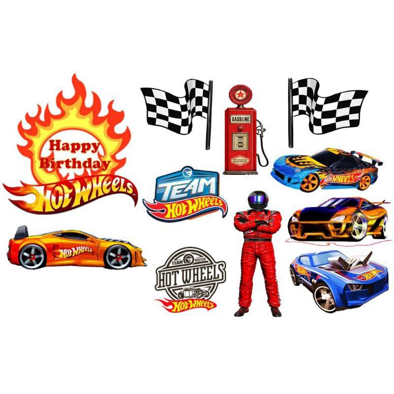 Cake Topper Happy Birthday Term Hot Wheels Custom Name Shopee Malaysia