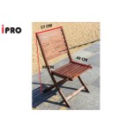 Ipro Outdoor Wooden Chair Patio Garden Dining Chair Foldable Chair Kerusi Lipat 2 Pcs Solid Wood Folding Chairs