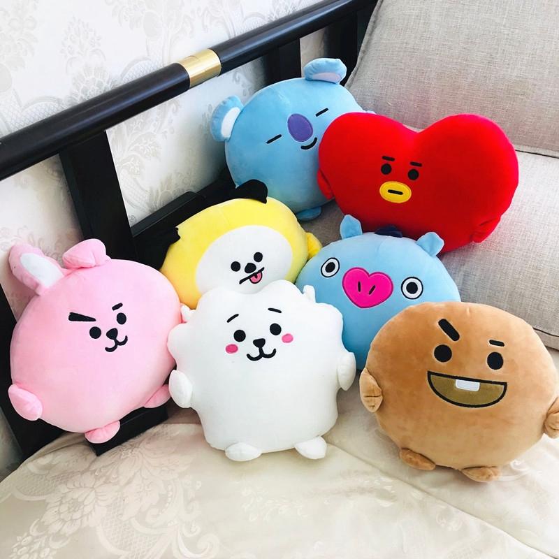 kpop bts pillow bt21 cartoon plush pillow doll cushion car cushion koya tata