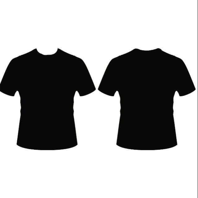 Baju Tshirt Hitam Kosong Depan Belakang