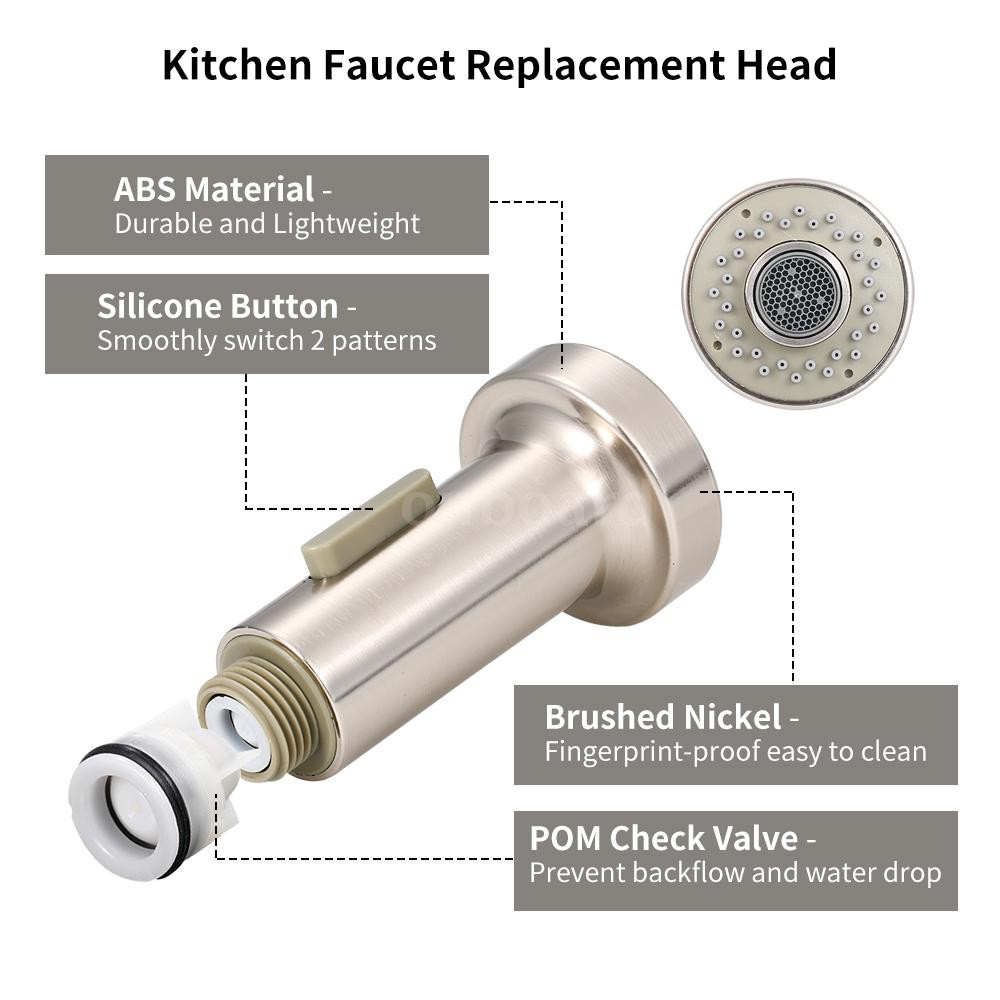 kitchen faucet pull out spray head 2 function with check valve pull down spray head g1 2 replacement nozzle brushed nick