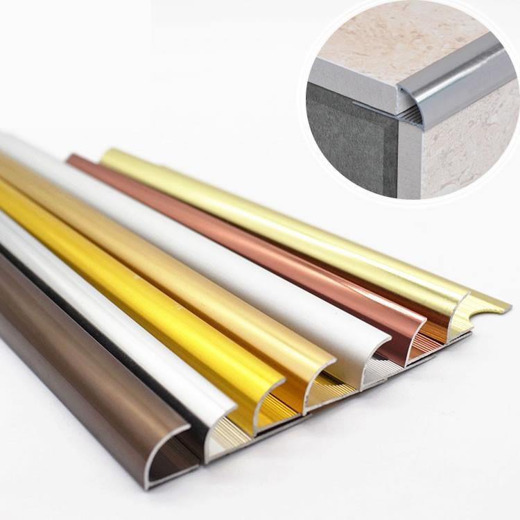 decorative metal bullnose profile wall ceramic tile outside corner edge aluminium tile trim