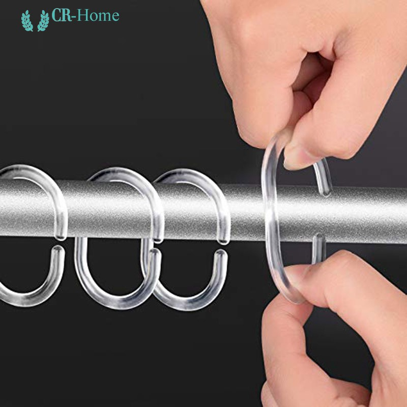 cr 12 pack curtain rings hooks shower curtain rings for shower rod clear