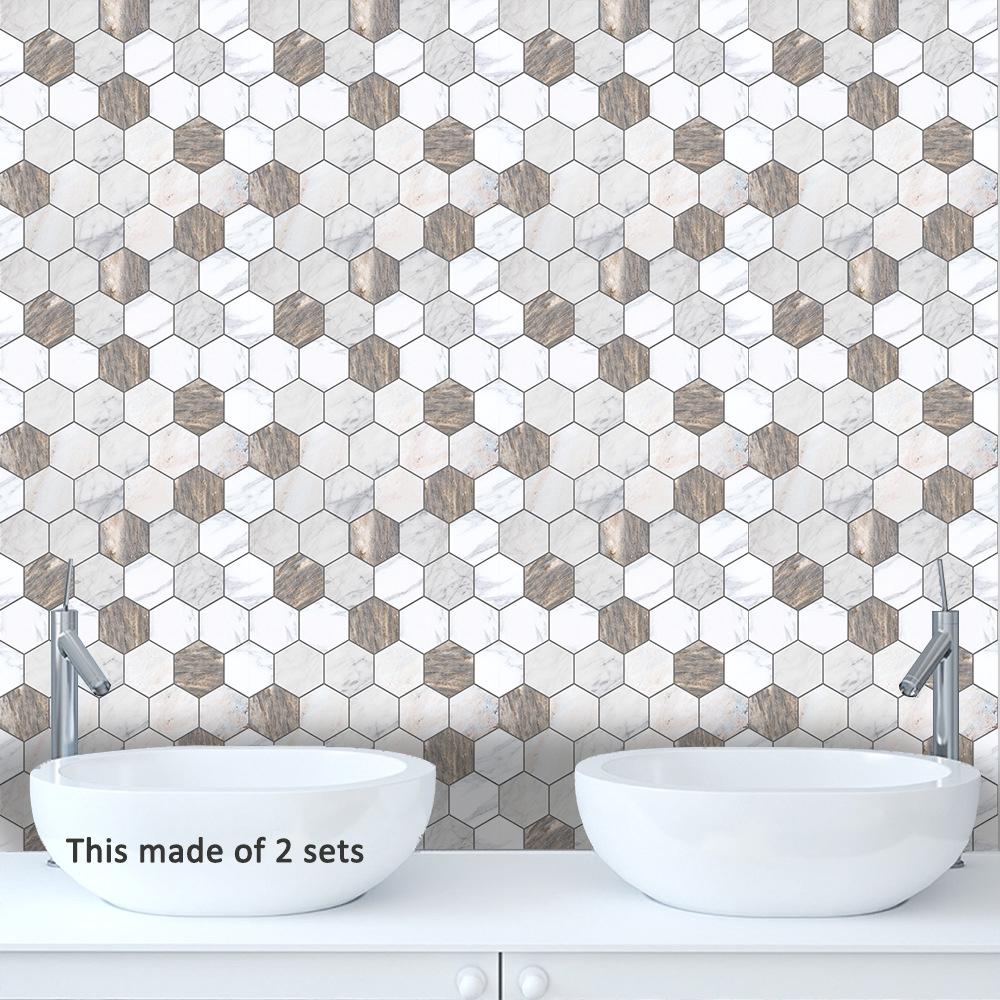 3d tile stickers backsplash bathroom