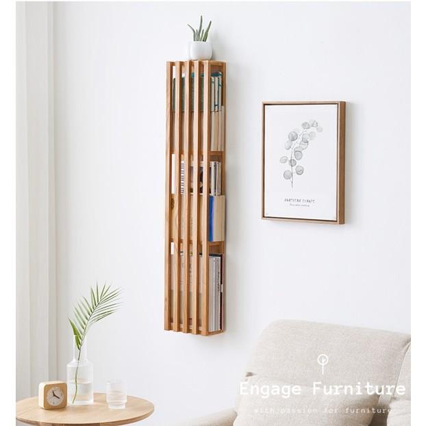 narvik wall mounted magazine holder hanging magazine rack gift display rack wooden modern newspaper rack for newspapers