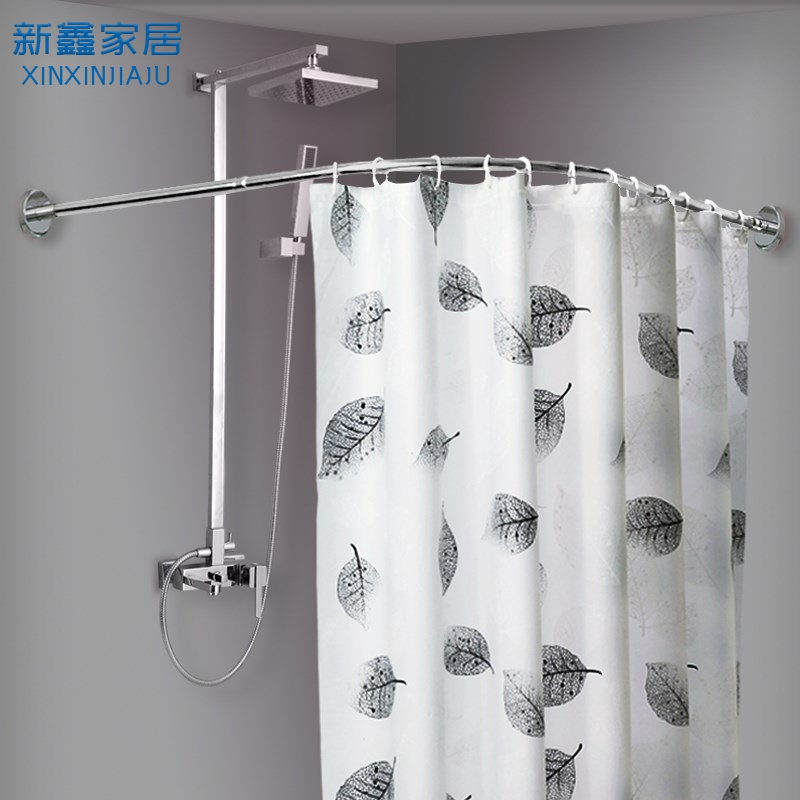 معلق مراسلة لسان حال u shaped shower curtain rail