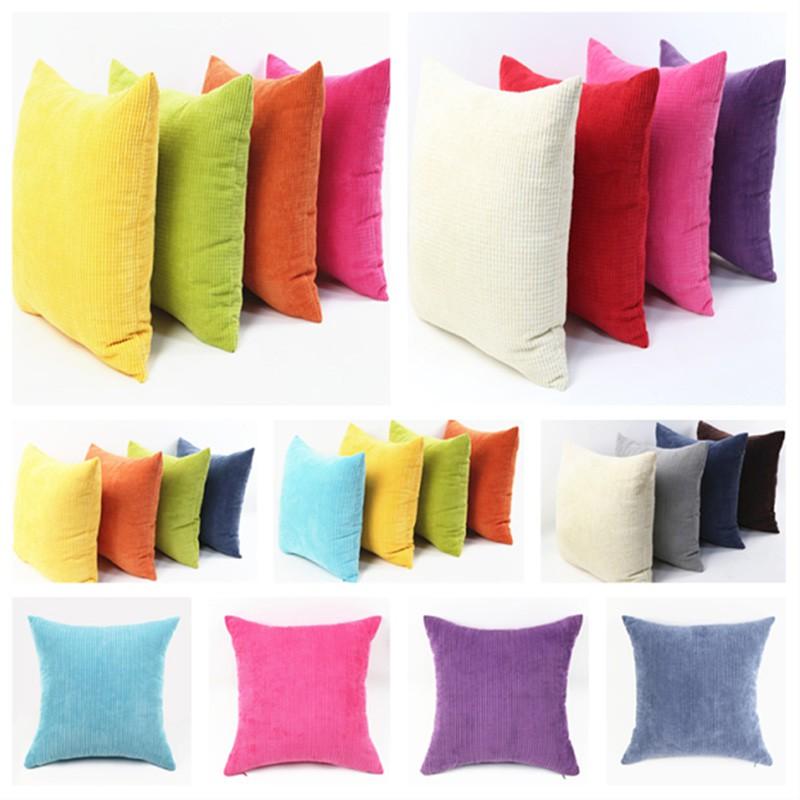 linen big square throw sofa cotton cushion cover pillow case