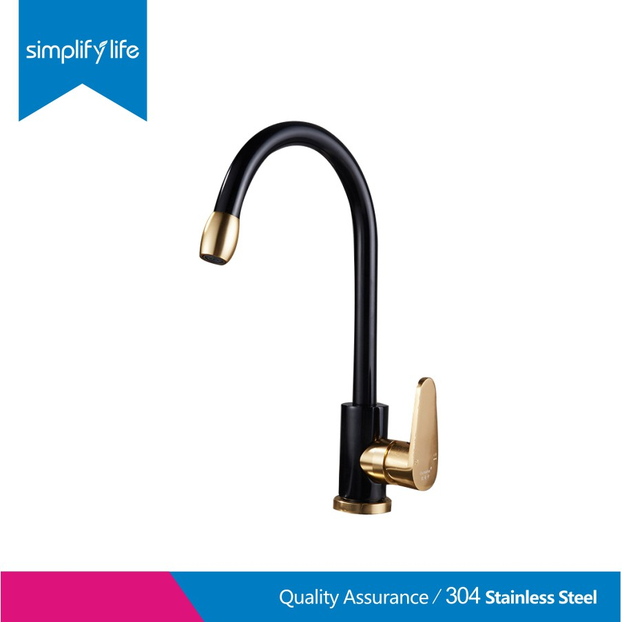 kitchen faucet black gold kitchen hot and cold water faucet set