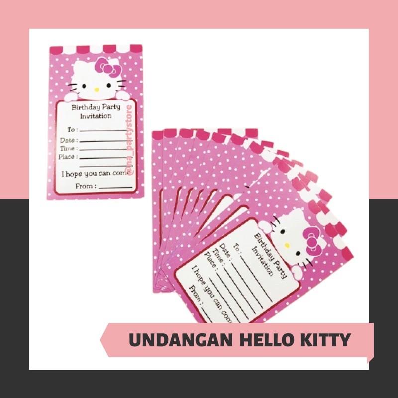 hello kitty birthday invitation card hello kitty invitation