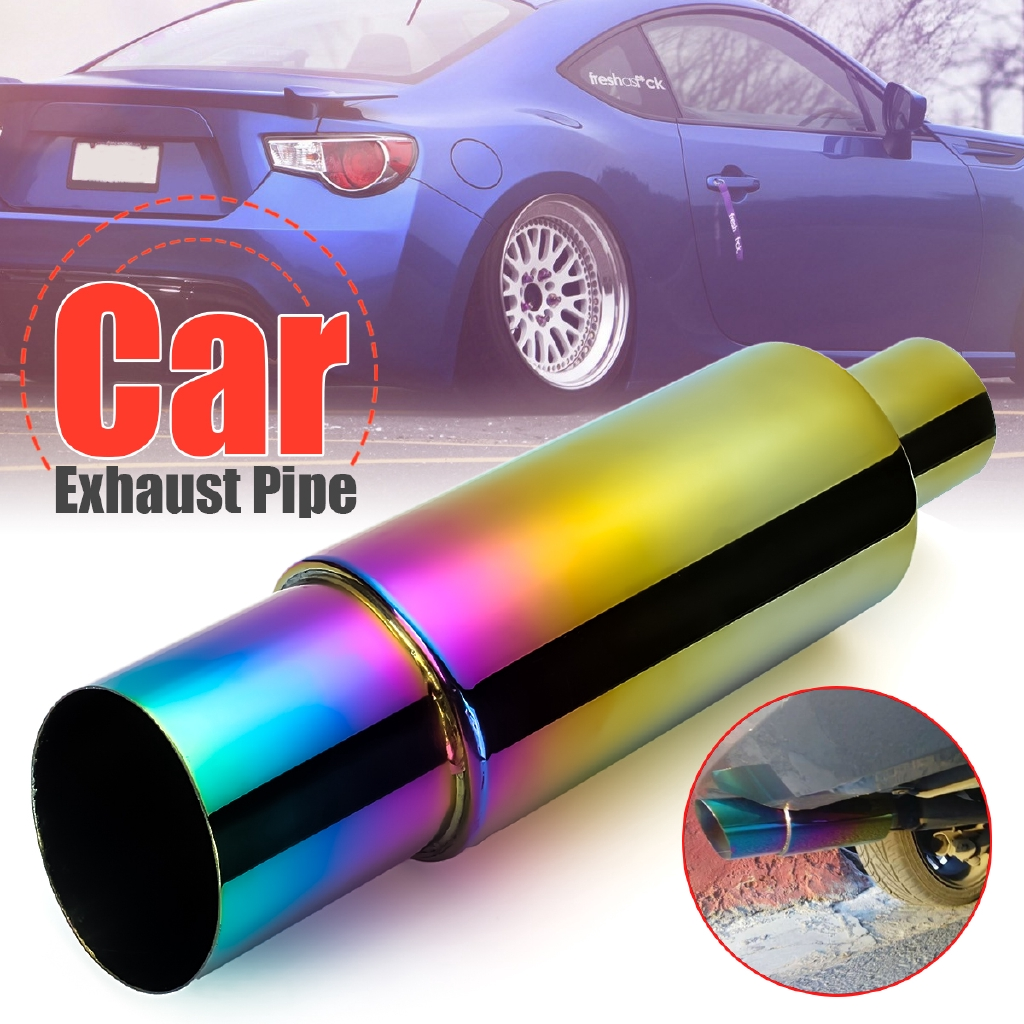 hot sale 304 stainless steel exhaust pipe racing muffler tip car exhaust pipe replacement