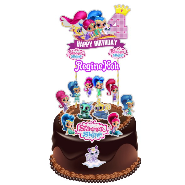 Shimmer And Shine Cake Topper Shopee Malaysia
