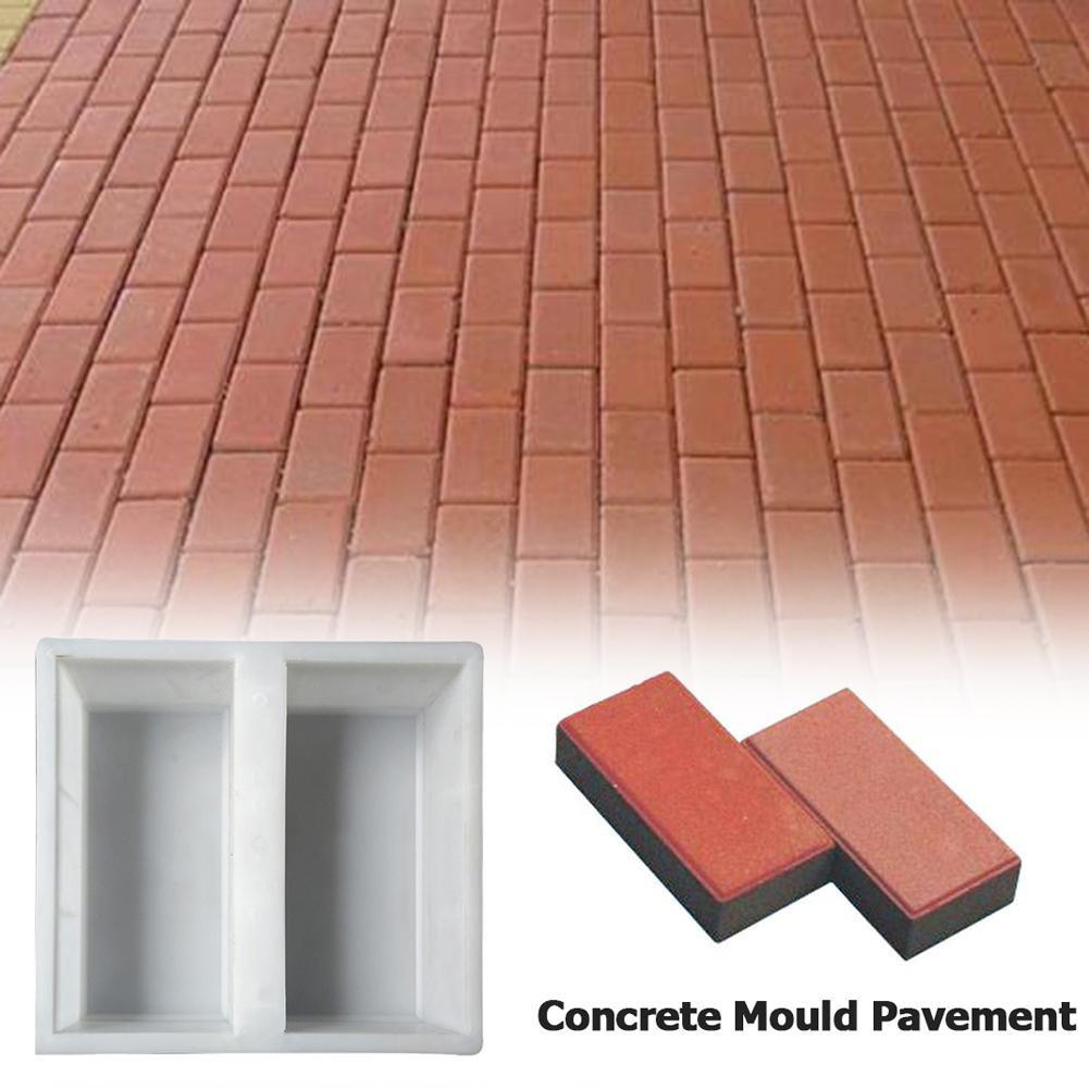 hot sale diy concrete pavement mold patio walkway paving brick stone road cement mould uk