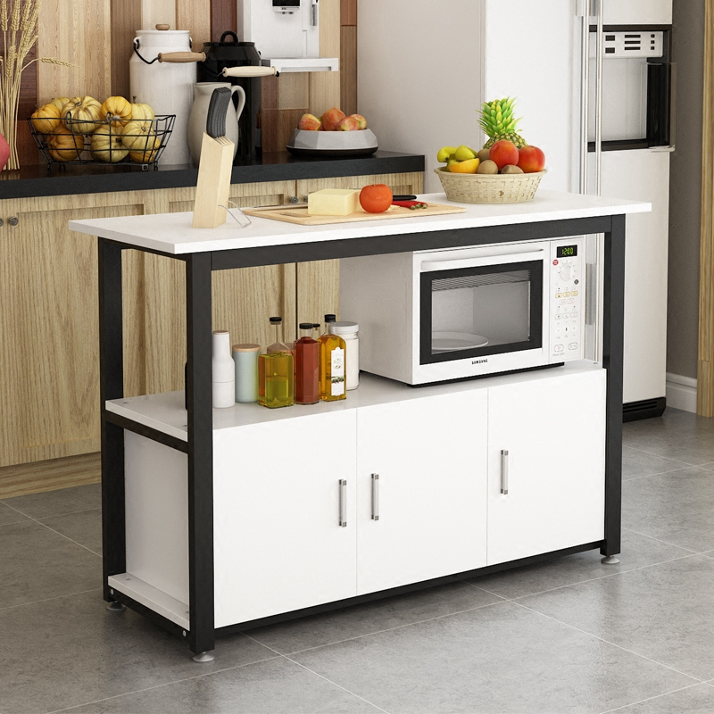 multi functional kitchen rack cutting table operating table microwave oven rack simple storage rack cupboard stove cabinet