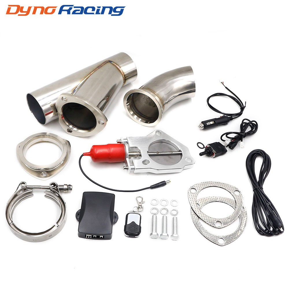 2 25 2 5 3 exhaust control valve electric exhaust cutout remote and manual toggle switch control kit