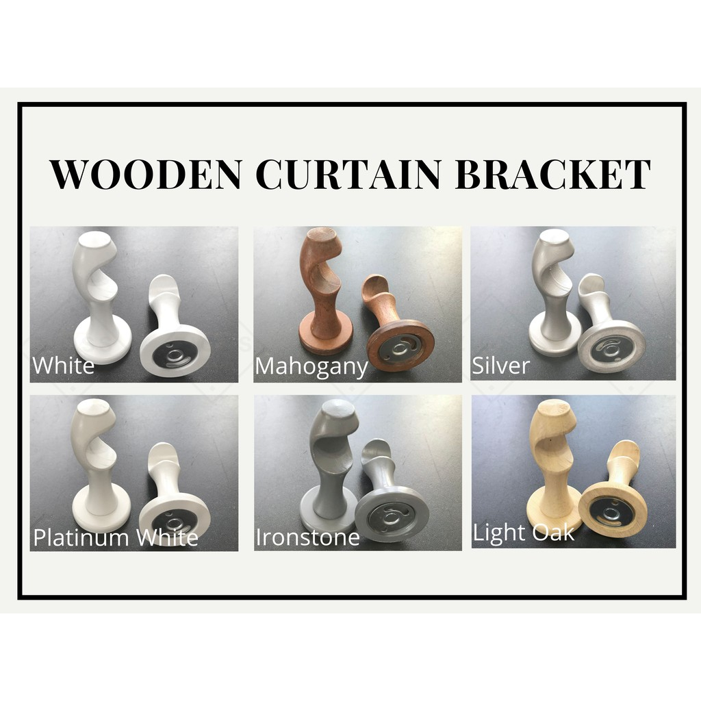wooden curtain bracket for 28mm diameter curtain rod bracket only