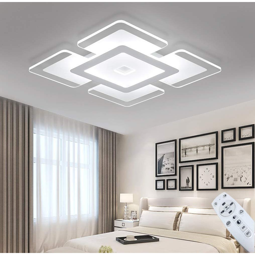 modern led recessed lighting fixture nordic ultra thin close to ceiling light indoor square acrylic pendant lamp simple fashion for hotel restaurant