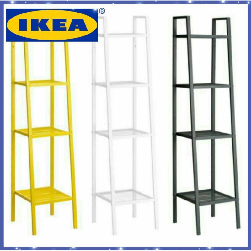ikea rack lerberg shelf unit 35x148 cm rak 4 tingkat 4 tier rack steel metal rack kitchen storage shelf holder stand
