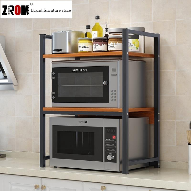 living kitchen microwave oven rack solid wood multi layer formaldehyde free storage rack