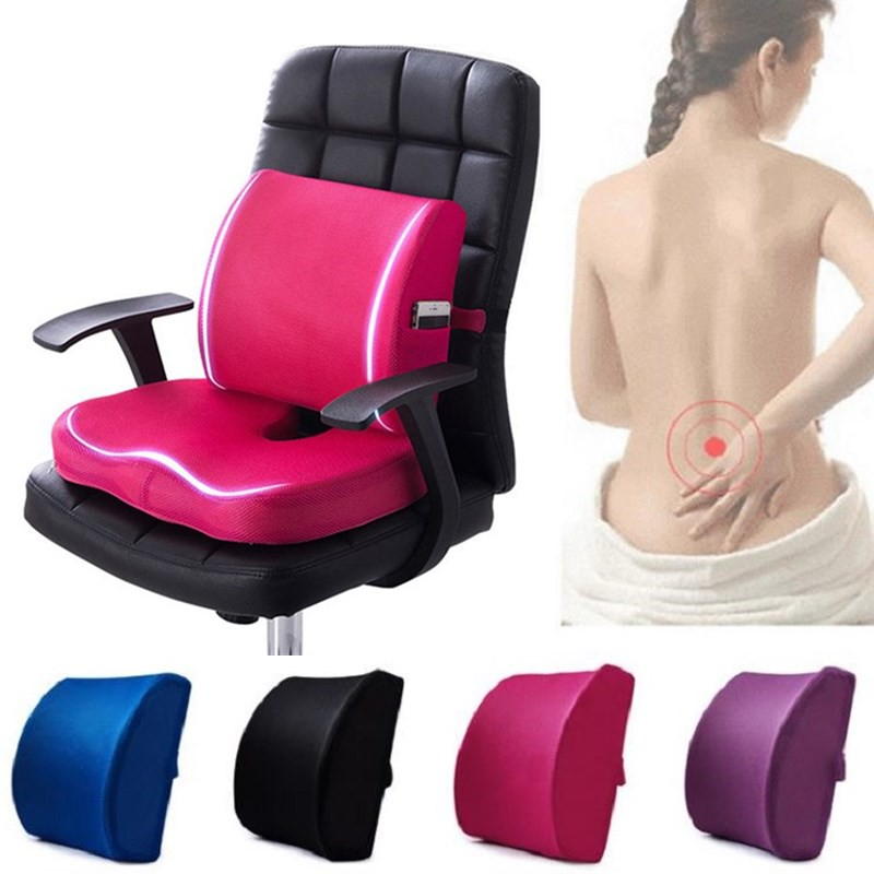 high quality lumbar seat cushion cushion relief pillow seat chair memory foam seat back pain support