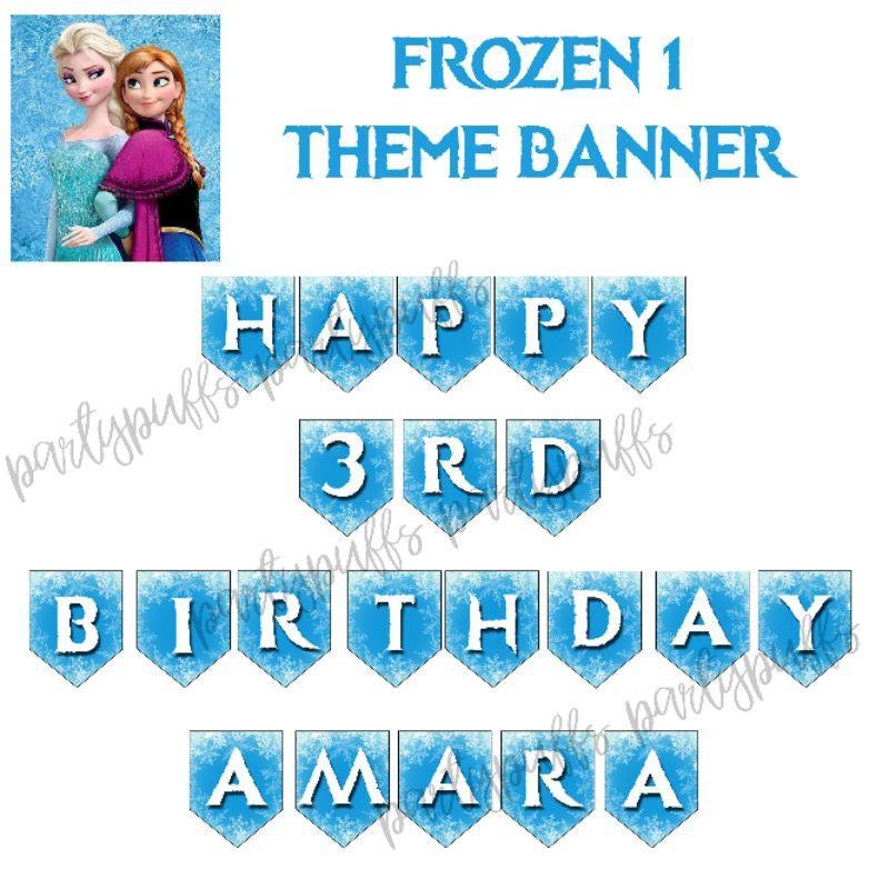 Frozen Birthday Banner Customize Name Shopee Philippines